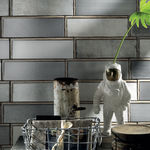 Outdoor tile / wall-mounted / porcelain stoneware / textured INDUSTRIAL GLASS IRIS CERAMICA