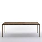 Rectangular table / contemporary / engineered stone / brass TENSE MATERIAL by Piergiorgio Cazzaniga MDF Italia