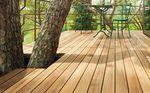 teak deck board / wood look
