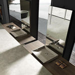Double washbasin / countertop / rectangular / stone SURF MODULNOVA