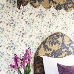 contemporary wallpaper / floral / non-woven / printed