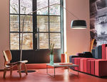Floor-standing lamp / contemporary / brushed stainless steel / LED CENTRAL by Formfjord Serien