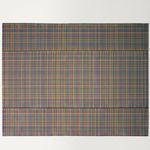 contemporary rug / plaid / fabric / rectangular