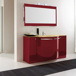 Wooden washbasin cabinet / free-standing / contemporary / with mirror YEN RAB ARREDOBAGNO