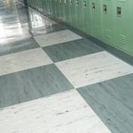 rubber flooring / commercial / tile / smooth
