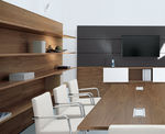 Wall-mounted shelf / contemporary / melamine / fabric W3 Bene