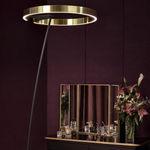 floor-standing lamp / contemporary / aluminum / LED