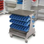 treatment trolley / metal / for healthcare facilities
