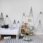 contemporary wallpaper / sketch / non-woven / printed