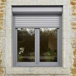 roller shutter / aluminum / PVC / window