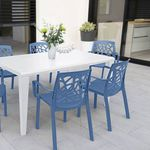contemporary chair / polypropylene / with armrests / stackable