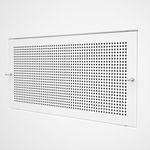 stainless steel ventilation grill / steel / rectangular / white