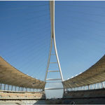 Cable-and-membrane tensile structure / roof / with PVC membrane / high-resistance MOSES MABHIDA STADIUM RONSTAN