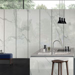 porcelain stoneware stone slab / for floors / for interior / for facades