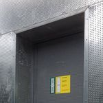 entry door / swing / steel / security