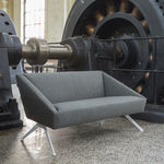 contemporary sofa / fabric / metal / polyurethane foam