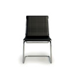 contemporary visitor chair / with armrests / upholstered / cantilever