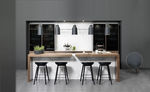 bar counter / kitchen / wooden / upright