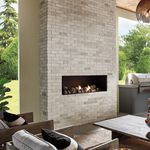 solid brick / for interior walls / white / textured