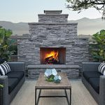 Wood fireplace / contemporary / closed hearth / built-in SHERWOOD™ Eldorado Stone
