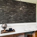 facade cladding brick / interior / black / stone look