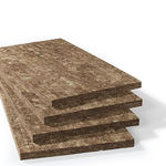 thermal-acoustic insulation / stone wool / wall / for roofs