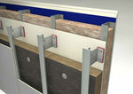 thermal insulation / rock wool / for facades / panel