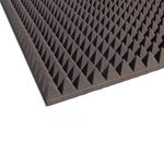 interior wall sound-absorbing panel / polyurethane foam / commercial