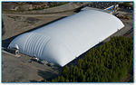 Fluoropolymer architectural fabric / for inflatable structures / fire-retardant TEDLAR® Shelter-Rite
