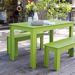 Picnic table / contemporary / polyethylene / rectangular LOLLYGAGGER Loll Designs