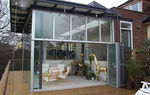 Sliding and stacking patio door / aluminum / double-glazed / triple-glazed SF55V I D Systems