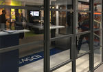 entry door / swing / glass / aluminum