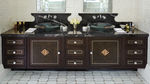 Double washbasin cabinet / contemporary / walnut / free-standing KIPS BAY Clive Christian