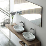 Double washbasin / countertop / oval / resin BARCELONA: 48 Victoria + Albert