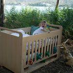 standard cradle / wooden / unisex / nursery