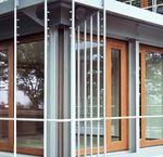 Sliding patio door / wooden / double-glazed / security GERMAN EMBASSY Accsys Technologies