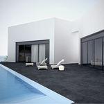 poolside tile / floor / porcelain stoneware / plain