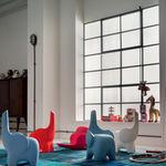 Original design stool / plastic / child's / blue TINO  Myyour