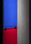 interior fitting acoustic panel / fabric / colored / commercial