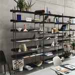 self-supporting shelving system / contemporary / sheet steel / commercial