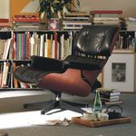 contemporary lounge chair / with headrest / swivel / star base