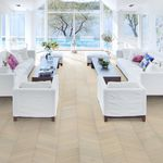 chevron parquet flooring / engineered / glued / oak