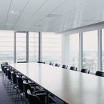 steel suspended ceiling / panel / radiant / with integrated heater