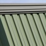 ribbed sheet metal / steel / roof / for walls