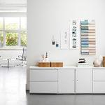 Low filing cabinet / tall / metal / laminate TU Herman Miller