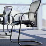Office chair / visitor / contemporary / metal AERON by Bill Stumpf & Don Chadwick Herman Miller