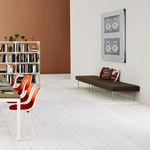Contemporary upholstered bench / steel / fabric / modular TUXEDO by Bassam Fellows Herman Miller