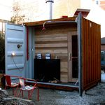 residential sauna / wooden / for outdoor use