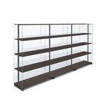 high bookcase / contemporary / commercial / aluminum