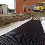 polypropylene drainage membrane / for vertical drainage / horizontal drainage / foundation
